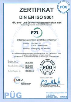 Zertifikat ISO